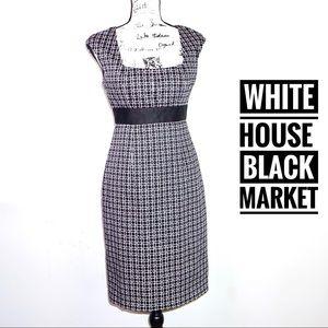 WHBM Sleeveless Sheath Dress with Squared Neckline